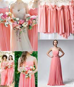 coral colored bridesmaid dresses key color for bridesmaid dresses 2014 coral vponsale wedding custom dresses
