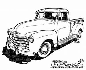 1970 chevy c10 truck hot rod car art With 1952 ford pick up