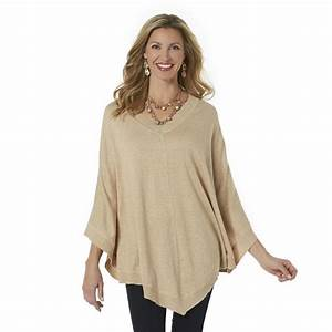 Jaclyn Smith Women's Poncho Sweater