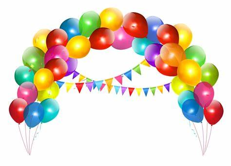 Transparent Balloon Arch with Decoration Clipart