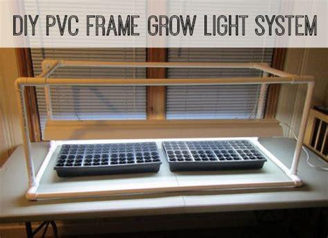 diy pvc frame grow light system homestead survival