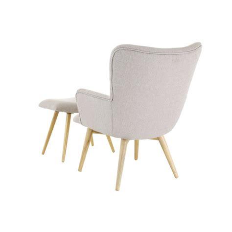 fauteuil scandinave en tissu avec repose pieds stockholm