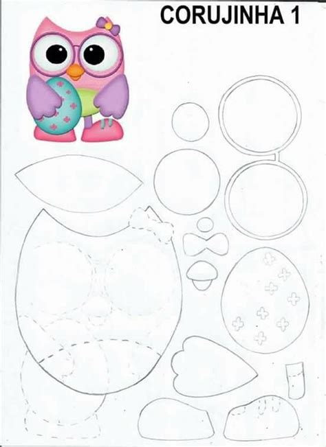 12 best moldes buhos on owls owl patterns and appliques