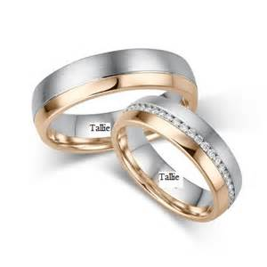 his and hers gold wedding rings matching wedding rings wedding bands 14k gold two tone wedding rings his and hers