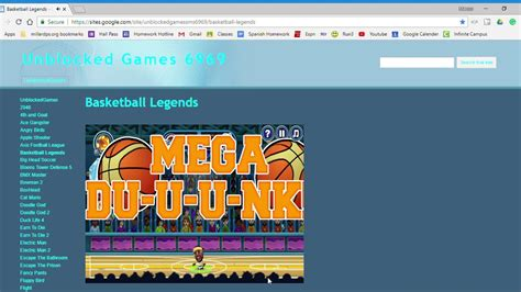 basketball legends unblocked games  youtube