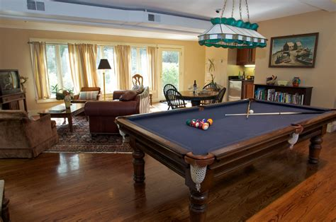 pool table in living room carriage house farm middletown ri vacation home for