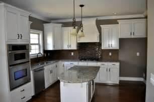 Backsplash With White Kitchen Cabinets White Cabinet Kitchen With Tile Backsplash Contemporary Kitchen Nashville By Robinson