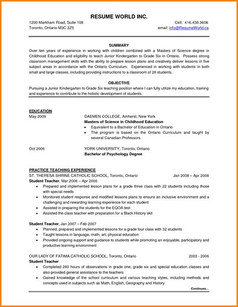 Ideal Resume Format by Canadian Resume Template Free 2018 Visa Sle Pdf Format