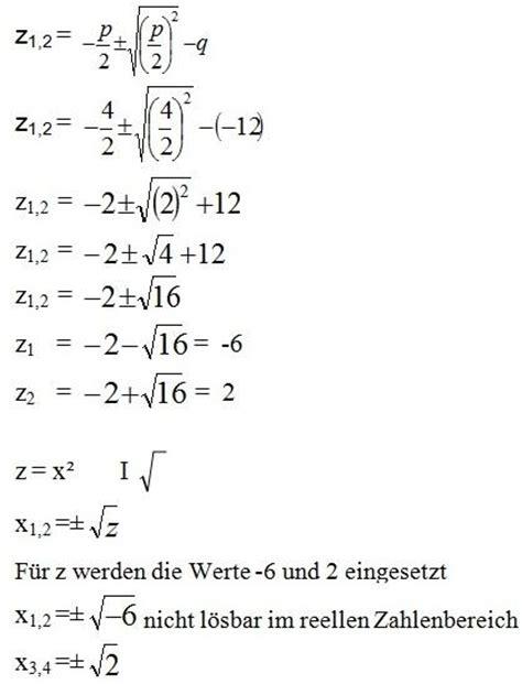 substitution mathe erklaerung beispiel nullstellen