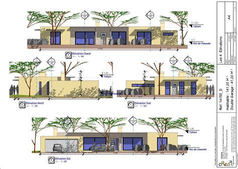 plan de maison contemporaine 4 chambres plan de maison moderne plain pied 4 chambres segu maison