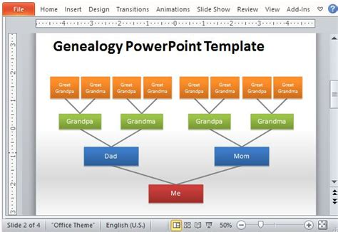genealogy tree powerpoint template