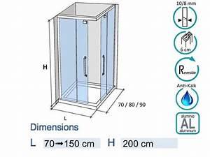 Cabine De Douche Integrale Hauteur 200 : paroi de douche longueur 150 cabine de douche 150 x 90 ~ Edinachiropracticcenter.com Idées de Décoration