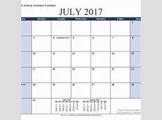 Google Docs Calendar July Template 2018 Template