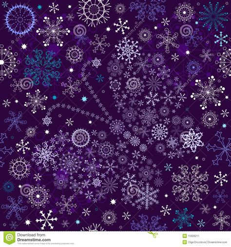 Purple Pastel Snowflake Background by Seamless Violet Wallpaper Stock Vector