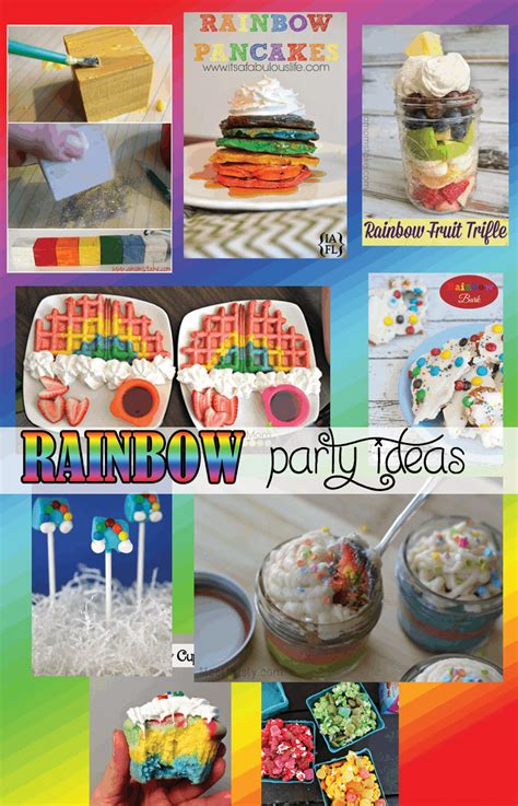 rainbow party ideas great  birthdays