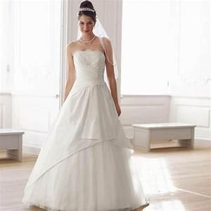 robe de mariee princesse ivoire eva en taffetas dentelle With robe de mariee internet