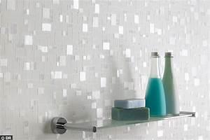 Papier Peint Pour Salle De Bain : 20 rev tements qu 39 on aime pour la salle de bains c t maison ~ Dailycaller-alerts.com Idées de Décoration