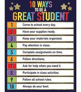 A Better Chart Glitter 10 Ways To Be A Great Student Chart Grade Pk 5
