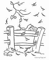 Fence Coloring Pages Picket Printable Getcolorings sketch template