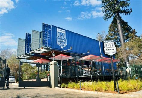 Modified Containers South Africa by A Coffee Shop Made With Shipping Containers In South