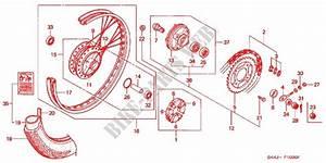 Rear Wheel For Honda Press Cub 50 Deluxe 1993   Honda