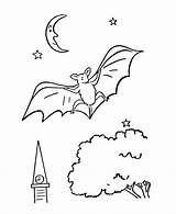 Coloring Pages Bat Wild Animal Bats Printable Tree Spooky Vampire Sheet Animals Halloween Activity Popular Thanksgiving Honkingdonkey Specials Template Coloringhome sketch template