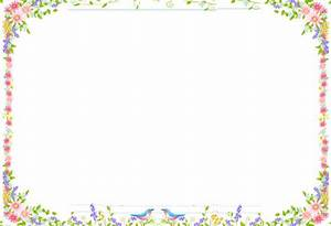 6 Best Images of Flower Border Paper Printable - Free ...