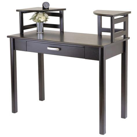 Corner Writing Desk Walmart by Winsome 174 Liso Writing Desk With 2 Corner Hutch 163877