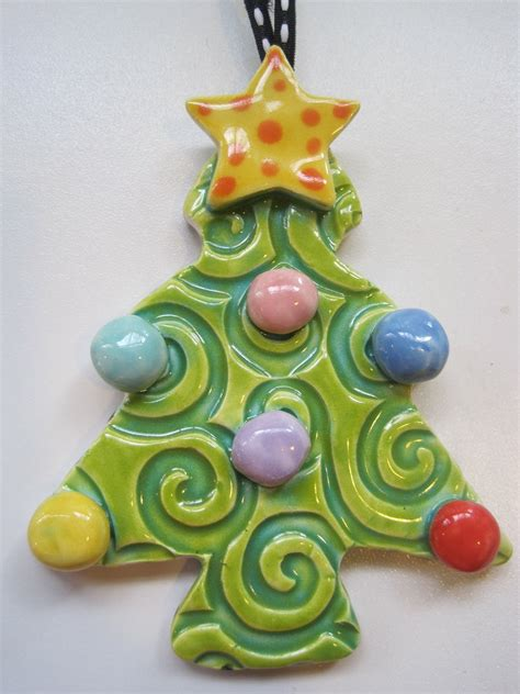 ceramic christmas ornaments whimsical tree ceramic ornament