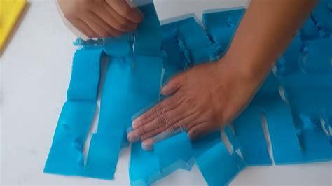 como hacer cortinas de papel picado cortina de papel crepe