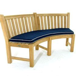 sunbrella curved bench cushion   curved bench