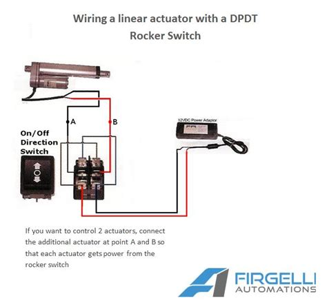 Wiring Diagram For 2 Pole Rocker Switch by Rocker Switches For Linear Actuators Momentary And