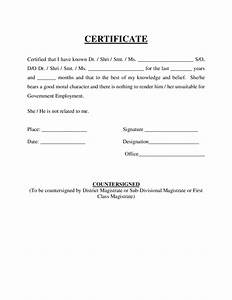 certificate of good moral character free download With certificate of good moral character template