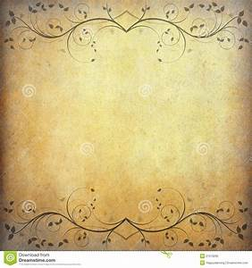 Old Paper Background With Vintage Flower - Download From ...