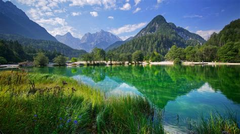 Lake Jasna Kranjska Gora In Slovenia Beauty Nature Lake