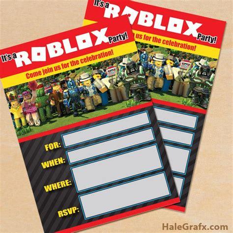 printable roblox party invitation roblox