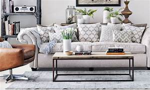 Grey living room ideas ideal home for Home decor for gray furniture