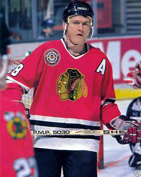 steve larmer chicago blackhawks sher wood game  stick