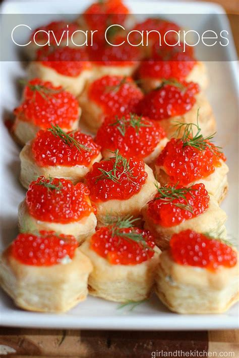 puff pastry caviar canapes and the kitchen
