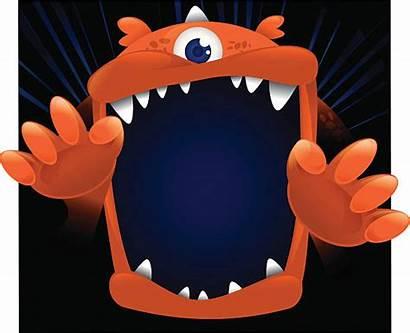 Mouth Monster Clipart Face Cartoon Clip Open
