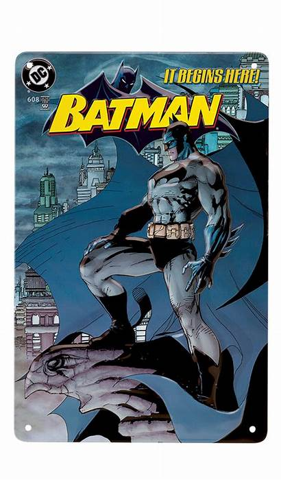 Batman Plate Comics Embossed Tin Graphic Novel