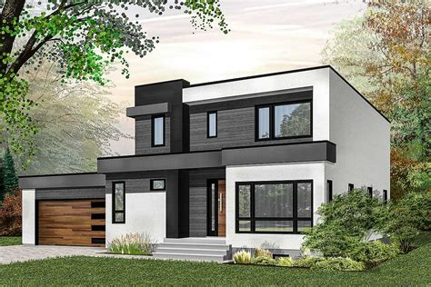 modern house plan with master