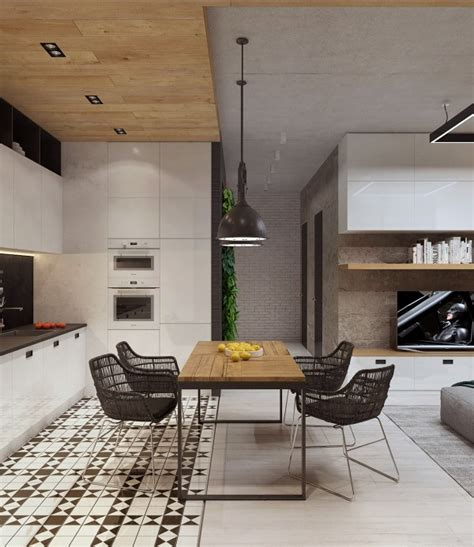 Wondrous White Three Lofts With Clean Bring Interiors by Two Sleek Apartments With Interior Glass Walls