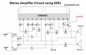 Cd6283 Stereo Amplifier Circuit