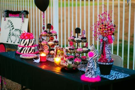 Pink And Black Party Decorations Background Wallpaper