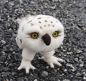 Needle Felted Sculpture Baby Snowy Owl | NEEDLE FELTING ...