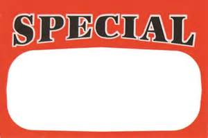 """50 Large Paper Price Sign """"SPECIAL"""" 5.5x7"""""""