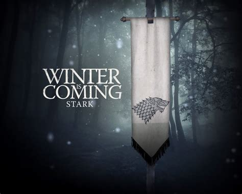 winter  coming game  thrones tv series wallpaper
