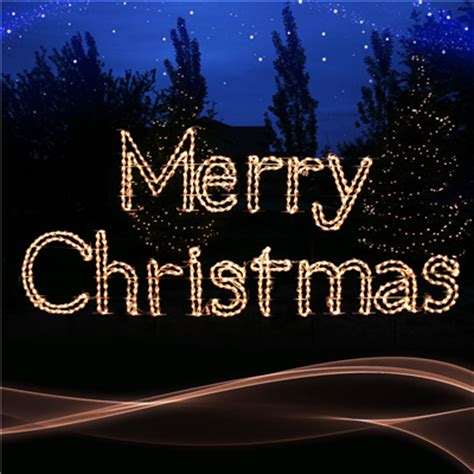 large lighted outdoor merry christmas sign sold in houston tx incandescent lighted merry sign holidynamics lighting solutions