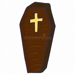 Vampire Coffin Flat Icon  Halloween Illustration Of Coffin